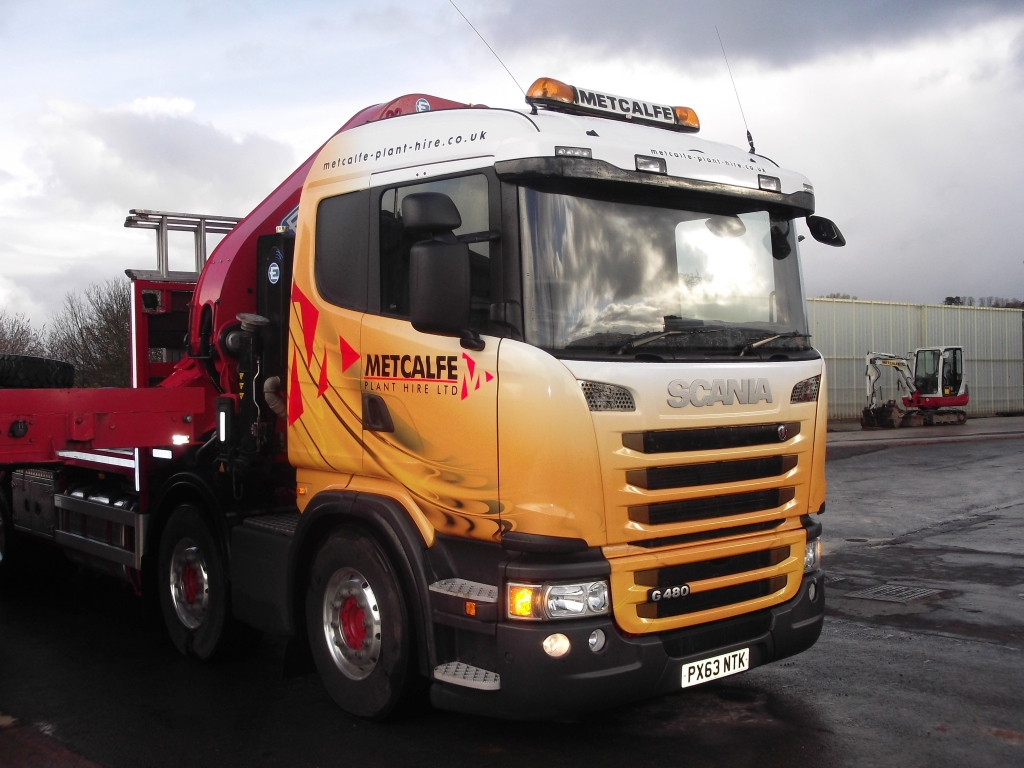 Metcalfe Plant Hire Road Haulage Division New Branded Lorry