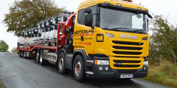 Metcalfe Plant Hire Road Haulage Division Full Load