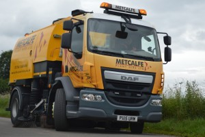 DAF Sweeper Working in Cumbria